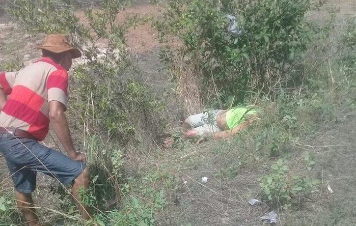 Corpo encontrado na PI-115, em Campo Maior (Crédito: PortaldeOlho)