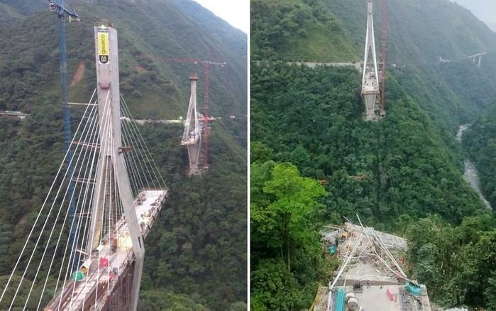 Ponte localizada na Colômbia (Crédito: Reprodução/Facebook/Lenin Rodríguez Mendieta)