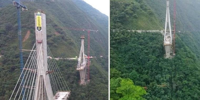 Sete pessoas morrem após ponte em construção desabar na Colômbia