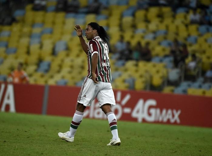 Ronaldinho jogou em 2015 pelo Fluminense  (Crédito: Reprodução )