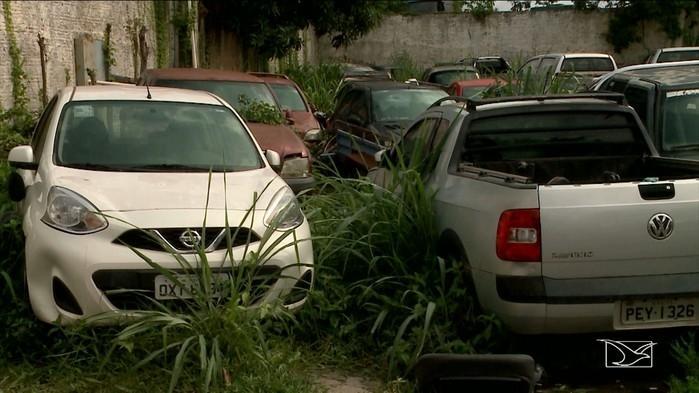 Veículos apreendidos pela polícia no Maranhão (Crédito: TV Mirante)