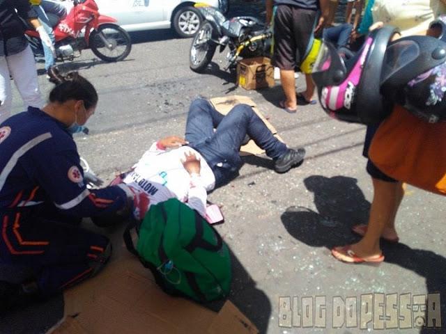 Veículo invade preferencial e deixa 2 pessoas feridas em Parnaíba