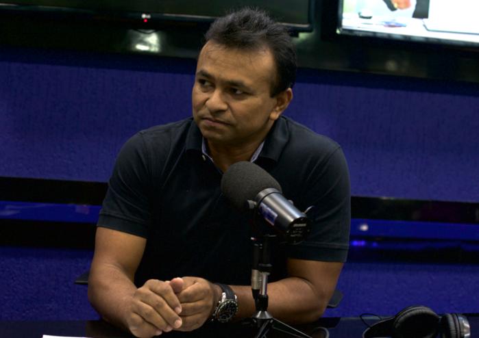 Fábio Abreu em entrevista na Rádio Jornal MN (Crédito: Afonso Leite)