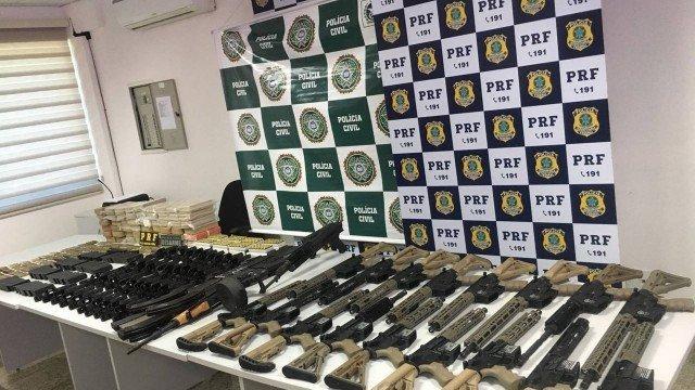 Armas apreendidas (Crédito: Divulgação)