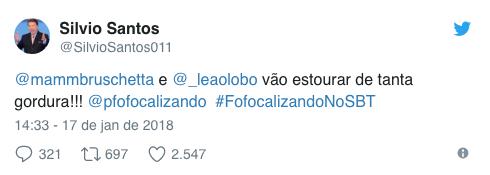 Silvio Santos cria perfil no Twitter e tira sarro de apresentadores