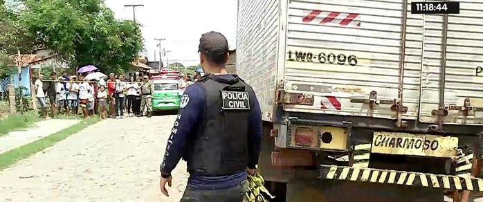 O crime ocorreu na rua 18, do bairro Parque Wall Ferraz (Crédito: Reprodução/Rede Meio Norte)