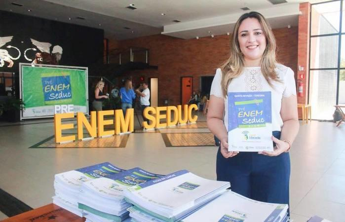 Secretária da Educação, Rejane Dias (Crédito: Seduc)