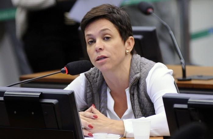 Cristiane Brasil (PTB - RJ) durante reunião em comissão da Câmara em maio de 2017  (Crédito: Lúcio Bernardo Junior/Câmara dos Deputados)