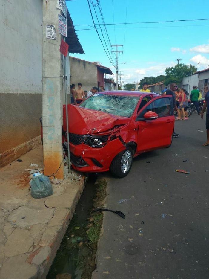 Bandido tem perna esmagada durante perseguição na zona norte de Teresina