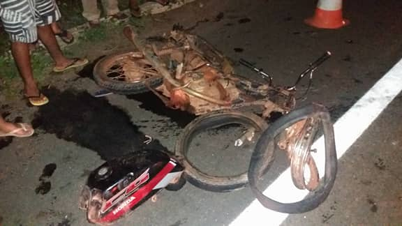 Duas pessoas ficam feridas após colisão na BR 343