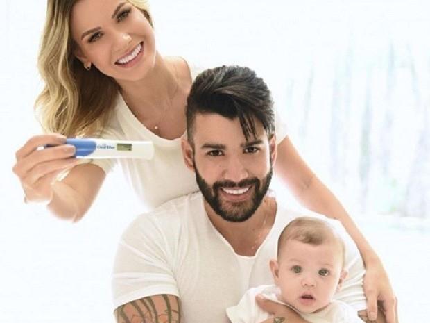 Gusttavo Lima e Andressa Suita anunciam segunda gravidez