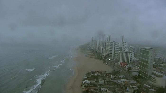 Imagem captada pelo Globocop antes da queda  (Crédito: Reprodução/TV Globo)