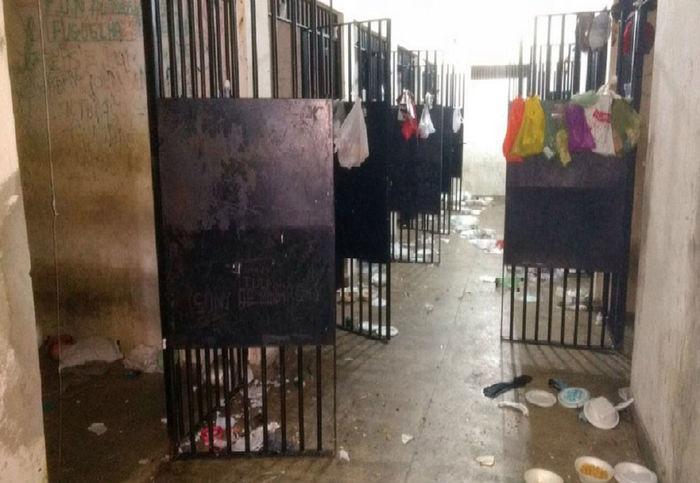 Cadeia onde ocorreram as mortes (Crédito: Sindasp/Divulgação)