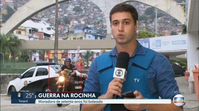 Gato de óculos escuros aparece durante reportagem da Globo