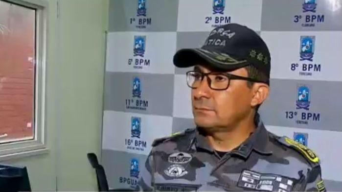 Comandante de Operações Especiais da Polícia Militar, coronel Alberto (Crédito: Rede Meio Norte)