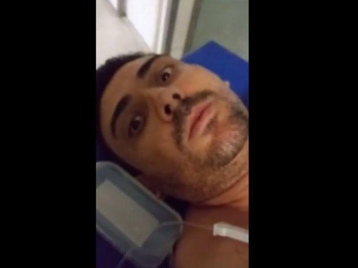 Cleatoni Luis foi alvejado com tiro no braço (Crédito: Reprodução/Facebook)