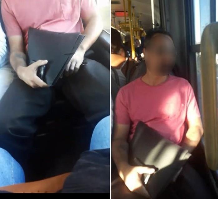 Homem foi flagrado se masturbando