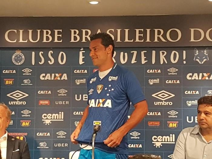 Fred é apresentado como novo contratado do Cruzeiro (Crédito:  Guilherme Macedo)