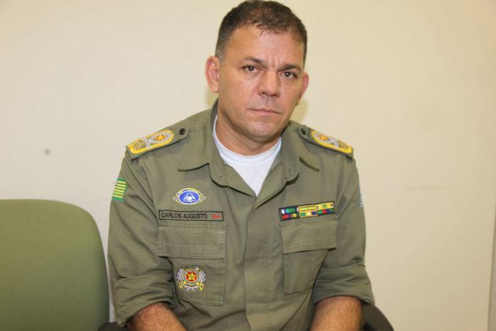 Comandante da PM, coronel Carlos Augusto, (Crédito: Arquivo/Meio Norte)