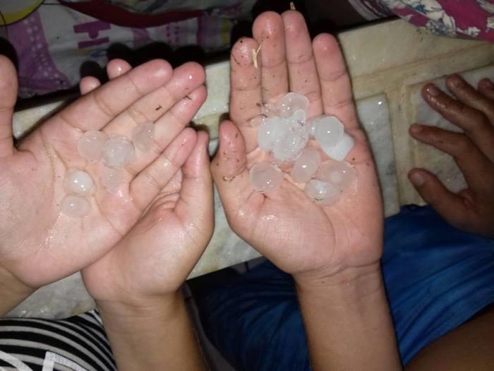 Chuva de granizo no interior do Piauí (Crédito: Reprodução)