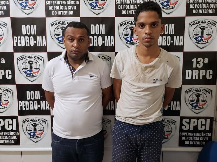 Luís Pedrosa de Araújo e Weverlhon Carlos Dias dos Reis (Crédito: Polícia Civil )