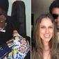 Cantor Seu Jorge exibe aliança de casado com neta de Lima Duarte