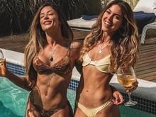 Aline Riscado celebra 31 anos com festa na piscina