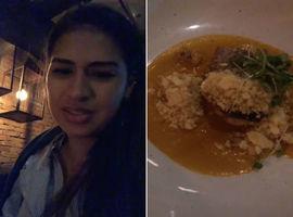 Simone reclama do tamanho de porção em restaurante caro