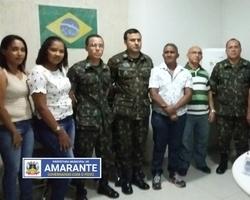 Prefeitura de Amarante recebe equipe do Tenente da Junta Militar