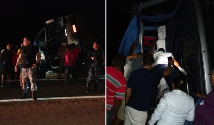 Acidente com ônibus na BR-316, no Maranhão