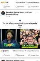 Facebook de Regina Sousa é invadido e postagem cita ator