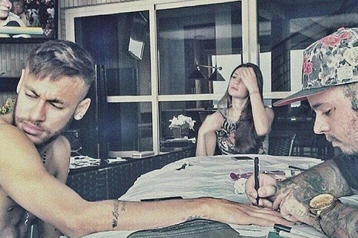 Neymar e Camila Karam (Crédito: Reprodução)