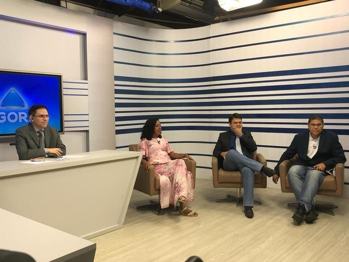 Luciane Santos é sabatinada no Agora da Rede Meio Norte (Crédito: W. Benário/´Portal Meio Norte)