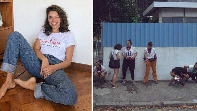 Bruna Linzmeyer foi fotografada fazendo xixi em calçada de rua no Centro do Rio (Crédito: Reprodução/Instagram)