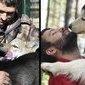 Homem cria centro de reabilitação para lobos e animais agradecem