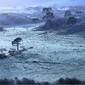 Serra catarinense registra 0º e tem geada nos campos