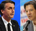 Pesquisa CNT/MDA: Bolsonaro tem 57% de votos válidos e Haddad 43%