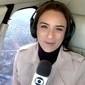 Porta de helicóptero da Globo se abre e equipe fica em apuros