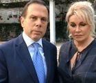 Ao lado de mulher, Doria critica vídeo vazado atribuído a ele