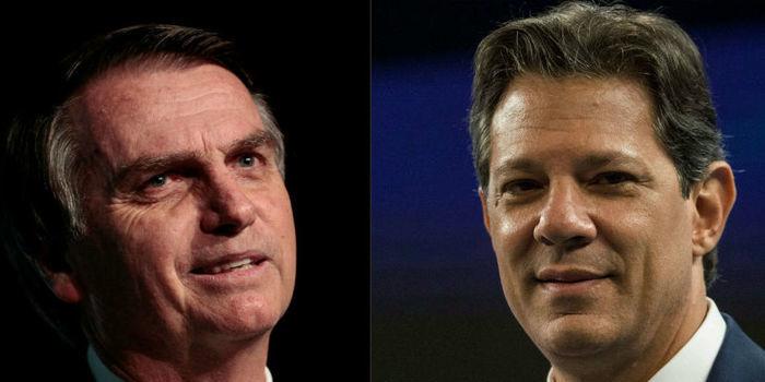 Bolsonaro tem 56%, e Haddad, 44% dos votos válidos, diz Datafolha