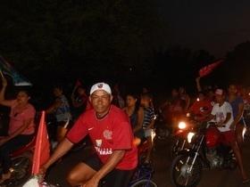 Apoiadores de Haddad realizam grande carreata em União