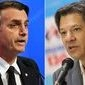 Ibope para presidente: Bolsonaro, 54%; Haddad, 46%
