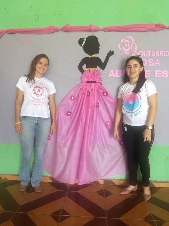 Enfermeiras Kaline Fonseca de Sousa e Ionara Luiz da Costa (Crédito: Aristeu Carvalho)