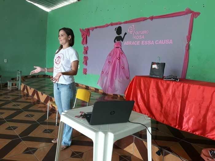 Palestrante sobre Prevenção ao Câncer e Sífilis (Crédito: Aristeu Carvalho)