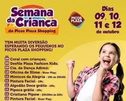 Semana da Criança é no Picos Plaza Shopping. Confira a programação!