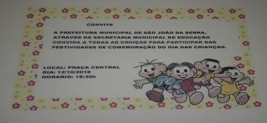 Prefeitura convida todas as crianças para grande festa