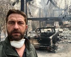 Ator Gerard Butler tem mansão destruída em incêndio na Califórnia