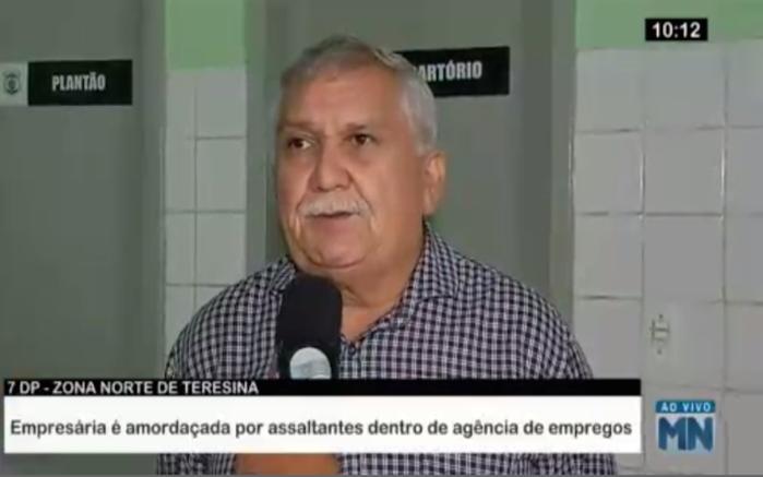 Delegado Menandro Pedro (Crédito: Reprodução/Rede Meio Norte)