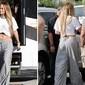 Jennifer Lopez ousa e usa calça bem baixa com calcinha à mostra
