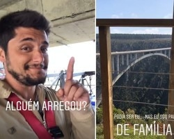 "Bruno Gissoni paga para fazer bungee jump, mas desiste:""Sou pai"""